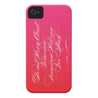 Tomorrow Care For Itself (Red/Magenta) Case-Mate iPhone 4 Cases