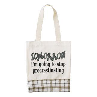 Tomorrow...I'm going to stop procrastinating Zazzle HEART Tote Bag