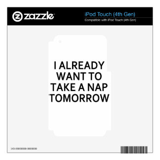 tomorrow iPod touch 4G decal