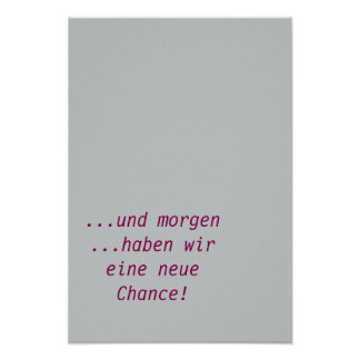 Tomorrow new Chance-German text Poster