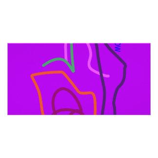 Tomorrow Purple Photo Card Template