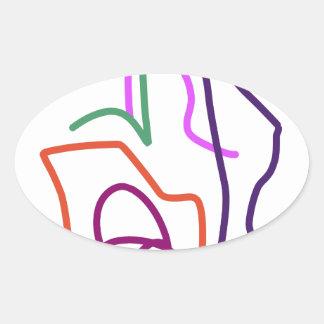 Tomorrow Oval Sticker