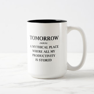 Tomorrow Two-Tone Coffee Mug