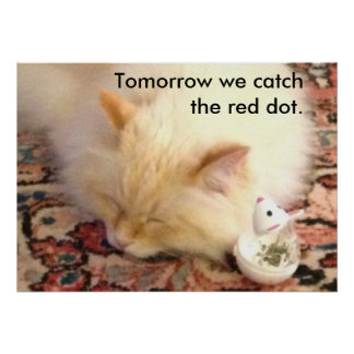 Tomorrow We Catch The Red Dot Poster