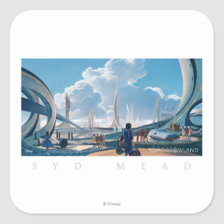 Tomorrowland by Syd Mead Square Sticker