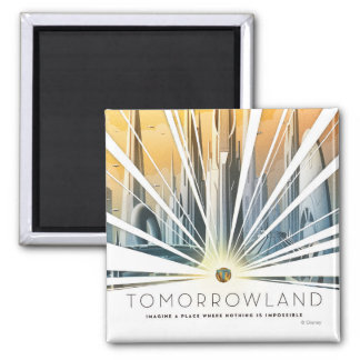 Tomorrowland City Poster 2 Inch Square Magnet