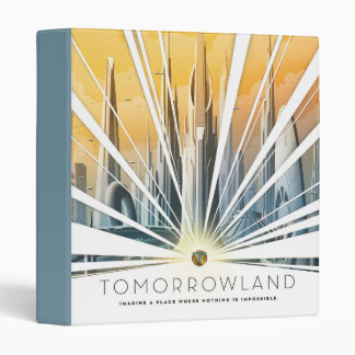 Tomorrowland City Poster Binder