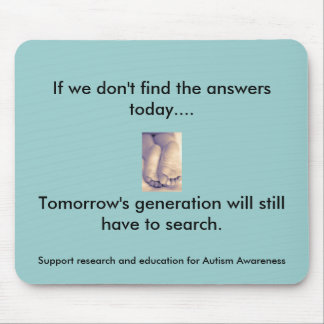 Tomorrow's Generation and Autism Mouse Pad