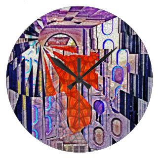 Tomorrow's Way Today Retro Future Art Large Clock