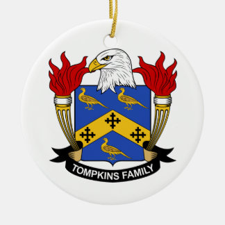 Tompkins Family Crest Ceramic Ornament