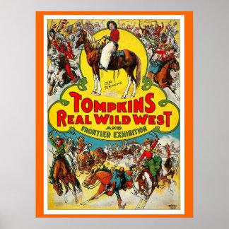 Tompkins' WILD WEST - Poster