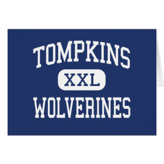 Tompkins Wolverines Middle Garden City Greeting Card