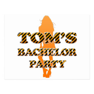 Tom's Bachelor Party Postcard