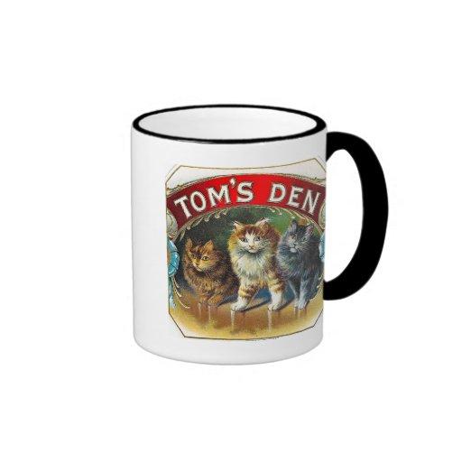 Toms Den Vintage Cigar Label Mugs