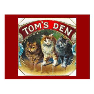 Toms Den Vintage Cigar Label Postcards