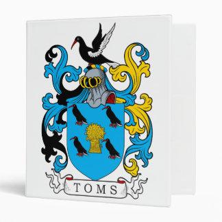 Toms Family Crest 3 Ring Binder