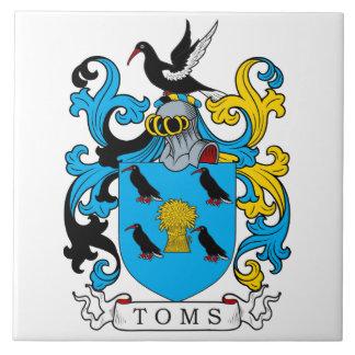 Toms Family Crest Ceramic Tile