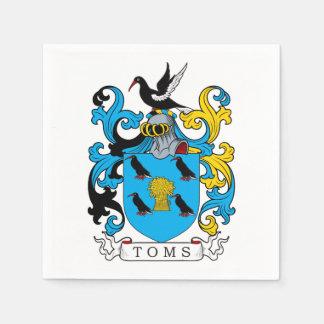 Toms Family Crest Paper Napkins