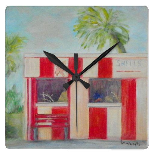 TOM'S OLD FLORIDA GIFT SHOP Wall Clock Wall Clock