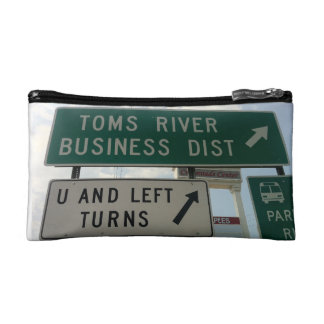 Toms River Route 37 Jughandle U-Turn Cosmetic Bag