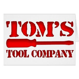 Tom's Tool Company Card