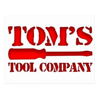 Tom's Tool Company Postcard