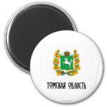 Tomsk Oblast Flag 2 Inch Round Magnet