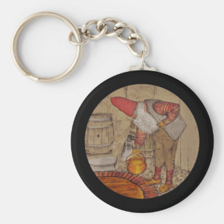 Tomtar Doing Housework Basic Round Button Keychain