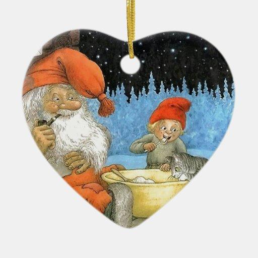 Tomte Nisse, aka Papá Noel Ornamento Para Arbol De Navidad