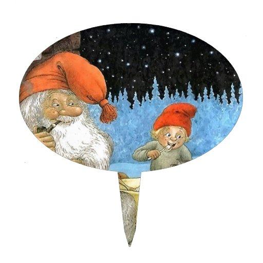 Tomte Nisse, aka Papá Noel Decoraciones Para Tartas