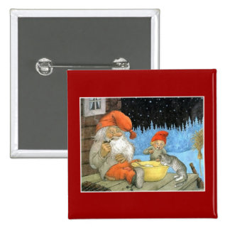 Tomte Nisse aka Santa Clause Pinback Buttons