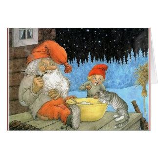 Tomte Nisse, aka Santa Clause Greeting Card
