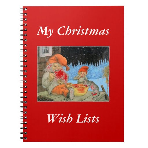 Tomte Nisse, aka Santa Clause Notebook