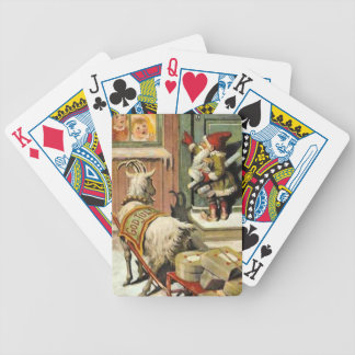 Tomte Nisse, aka Santa Clause Bicycle Playing Cards