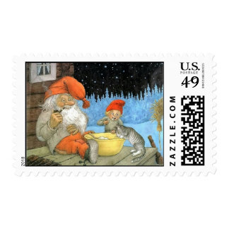 Tomte Nisse, aka Santa Clause Postage Stamps
