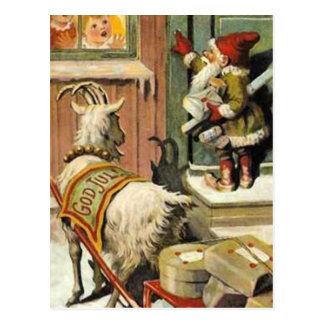 Tomte Nisse aka Santa Clause Post Card