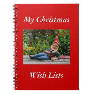 Tomte Nisse, aka Santa Clause Spiral Note Book