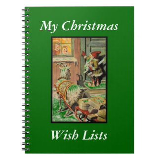 Tomte Nisse, aka Santa Clause Spiral Notebooks