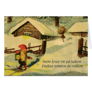 Tomten Christmas card with Viktor Rydberg poem