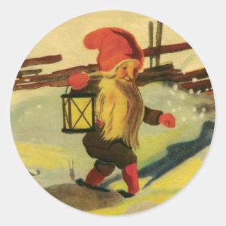 Tomten round stickers