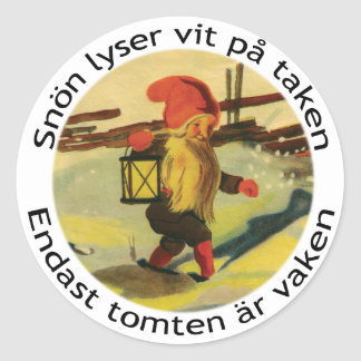 Tomten stickers with Viktor Rydberg poem