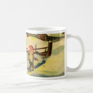 Tomten watching the farm coffee mug
