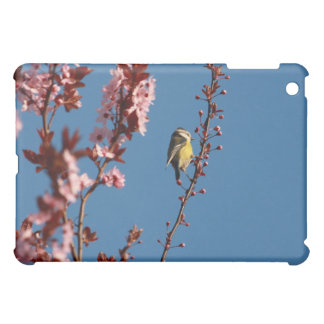 tomtit in blooming cherry plum tree case for the iPad mini