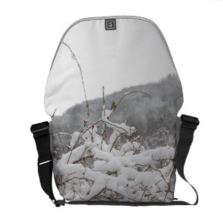 tomtit in winter messenger bag