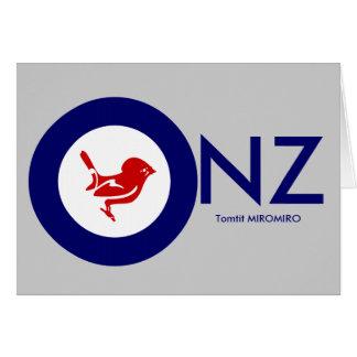 Tomtit roundel | New Zealand Bird Card