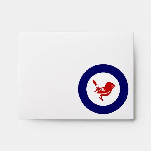 Tomtit roundel | New Zealand Bird Envelope