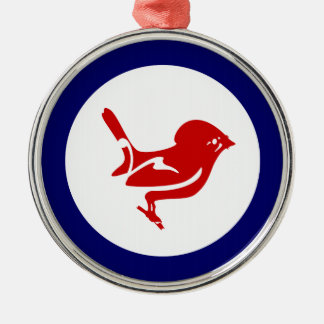 Tomtit roundel | New Zealand Bird Metal Ornament