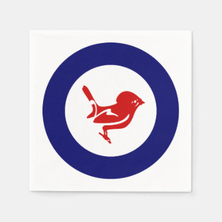 Tomtit roundel | New Zealand Bird Paper Napkin