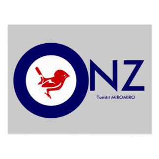 Tomtit roundel | New Zealand Bird Postcard