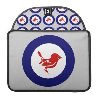 Tomtit roundel | New Zealand Bird Sleeve For MacBooks